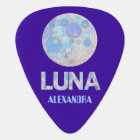 Z Luna The Full Moon Blue Purple Musician Custom Guitar Pick
