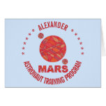 Z Mars The Red Planet Space Geek Solar System Fun Greeting Card