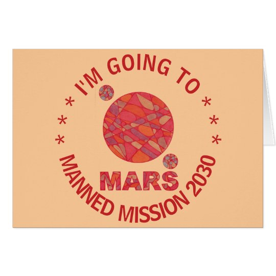 Z Mars The Red Planet Space Geek Solar System Note Card