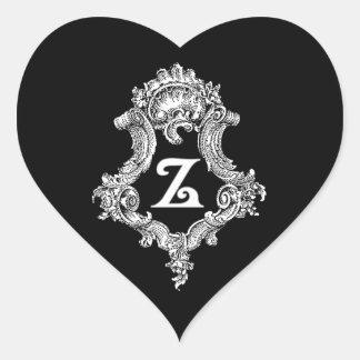 Z Monogram Initial Sticker