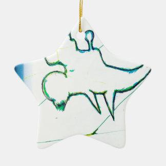 Z Plane Rising Ceramic Ornament
