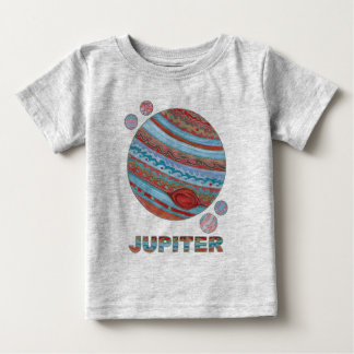 Z Planet Jupiter And Moons Space Geek Fashion Baby T-Shirt