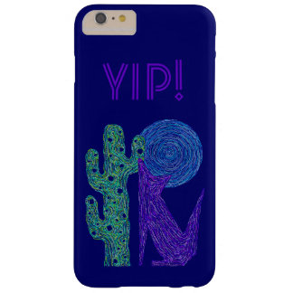Z Purple Coyote Wolf Colorful Southwestern Design Barely There iPhone 6 Plus Case
