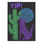 Z Purple Coyote Wolf Colourful Southwestern Design Card
