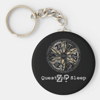 Z? Question Sleep Basic Round Button Key Ring