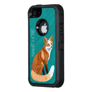 Z Red Fox Retro Style iphoneSE Personalise This OtterBox Defender iPhone Case