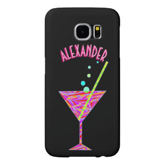 Z Red Happy Hour Cocktail Glass Martini glxy6 Samsung Galaxy S6 Cases
