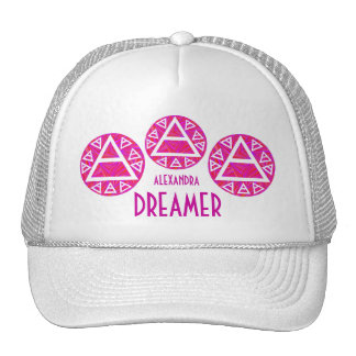 Z Red Platos Air Sign Triad Custom Dreamer Cap