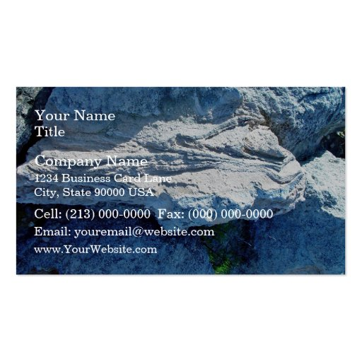 Z shaped layers in limestone business card