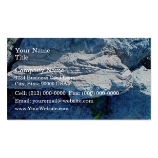 Z shaped layers in limestone pack of standard business cards