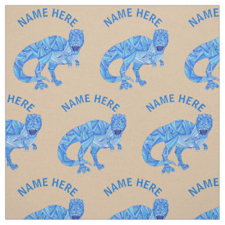 Z T-Rex Dinosaur Colorful Prehistoric Animal Fabric