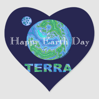 Z Terra Earth Art Happy Earth Day Stickers