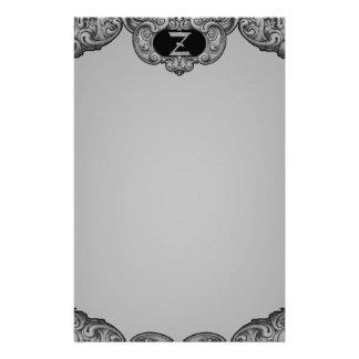 Z - The Falck Alphabet (Silvery) Custom Stationery