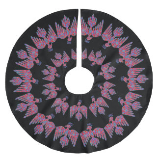 z Thunderbird Southwest Art Native American Symbol Brushed Polyester Tree Skirt