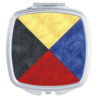 Z Zulu Watercolor Nautical Signal Maritime Flag Compact Mirrors