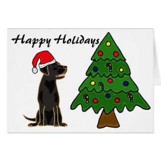 ZA- Black Labrador Christmas Card