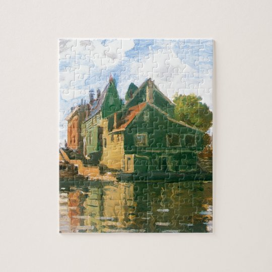 Zaandam, Canal by Claude Monet Jigsaw Puzzle