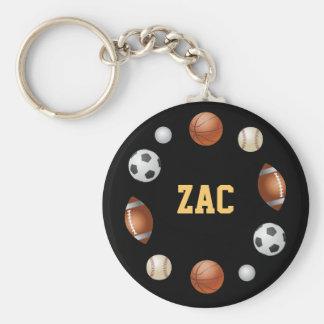 Zac World of Sports Keychain - Black