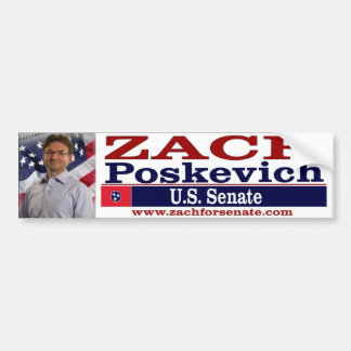 Zach For Senate Bumper Sticker