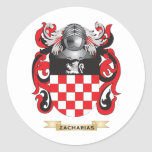 Zacharias Family Crest (Coat of Arms) Round Stickers