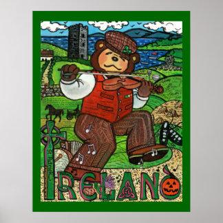 Zachary Bear's® Tribute to Ireland Poster