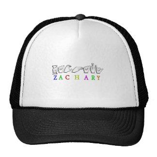 ZACHARY  FINGERSPELLED NAME CAP