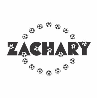Zachary in Soccer Black Standing Photo Sculpture