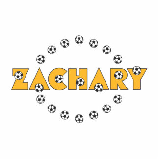 Zachary in Soccer Gold Photo Cutouts