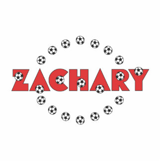Zachary in Soccer Red Photo Sculpture