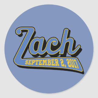 zach's bar mitzvah classic round sticker