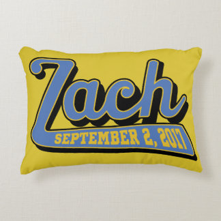 zach's bar mitzvah decorative cushion