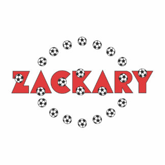 Zackary in Soccer Red Photo Cut Out
