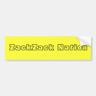 ZackZack Nation Bumper Sticker Car Bumper Sticker