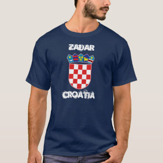 Zadar, Croatia with coat of arms T-Shirt