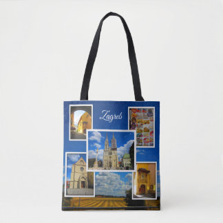 Zagreb Old Town Photo Collage Tote Bag