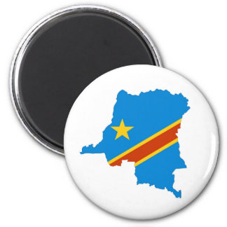 zaire congo country flag map magnet