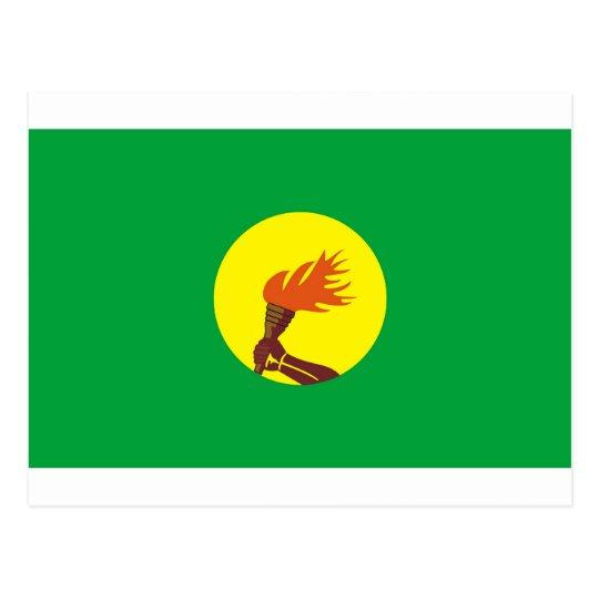 Zaire-Congo flag Postcard
