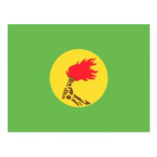 Zaire, Democratic Republic of the Congo flag Postcard