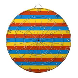 Zaire flag stripes dartboard