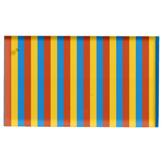 Zaire flag stripes lines pattern table card holder