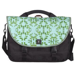 zakiaz holli leaves design laptop messenger bag