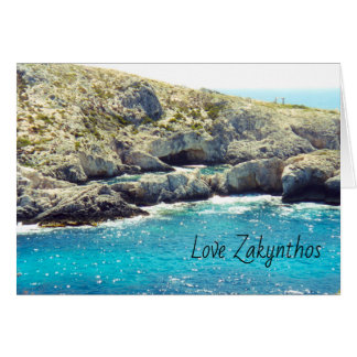 Zakynthos Greetings card with motif