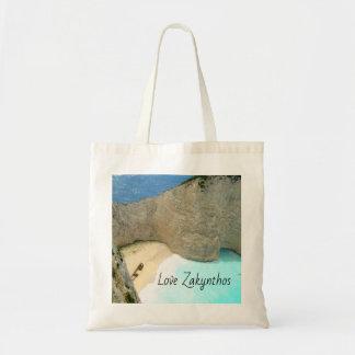 Zakynthos Tote Bag (the shipwreck) with motif