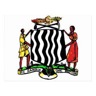 Zambia, Africa, Coat of Arms Postcard