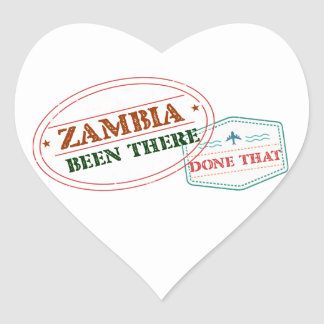 Zambia Been There Done That Heart Sticker
