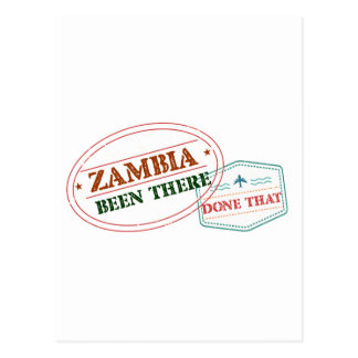 Zambia Been There Done That Postcard