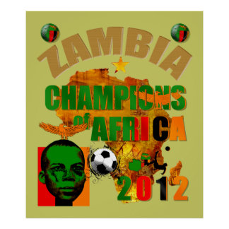 Zambia Champions of Africa Nations Cup 2012 Art Poster