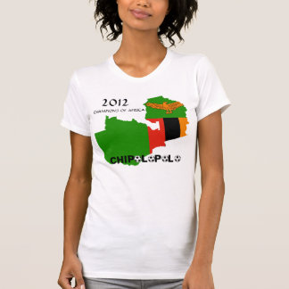 """Zambia """"Chipolopolo"""" 2012 Champions of Africa T-Shirt"""
