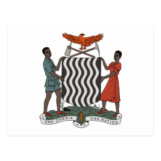 Zambia Coat of Arms Postcard
