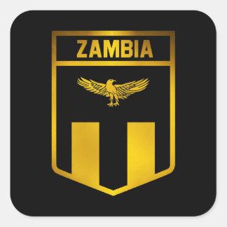 Zambia Emblem Square Sticker
